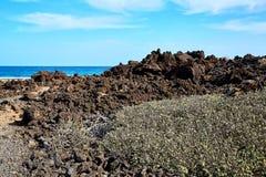 Paisagem da ilha de Lanzarote, Canaries Imagem de Stock Royalty Free