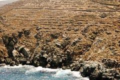 Paisagem da ilha de Sifnos, ilhas de Cyclades, Grécia fotos de stock