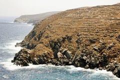Paisagem da ilha de Sifnos, ilhas de Cyclades, Grécia foto de stock