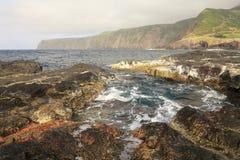 Paisagem da ilha do oceano em Açores Imagem de Stock Royalty Free