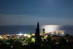 Paisagem da ilha do zante na noite Imagens de Stock