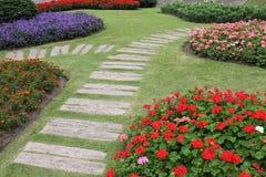 Paisagem da jardinagem floral Imagens de Stock Royalty Free