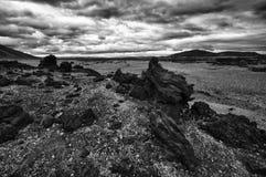 Paisagem da lava de Islândia Imagens de Stock Royalty Free