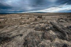 Paisagem da lava de Islândia Foto de Stock Royalty Free