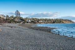 Paisagem 2 da linha costeira de Puget Sound foto de stock royalty free