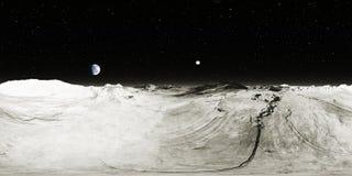 paisagem da lua de 360 graus, proje??o equirectangular, mapa do ambiente Panorama esf?rico de HDRI Fundo do espa?o fotografia de stock royalty free