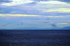 Paisagem da manh? da ilha de Coiba, Panam? fotografia de stock royalty free
