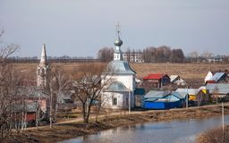Paisagem da mola de Suzdal imagem de stock