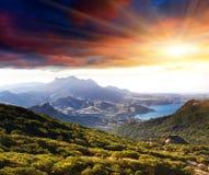 Paisagem da montanha Fotos de Stock Royalty Free