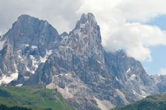 Paisagem da montanha alta nas dolomites Fotos de Stock