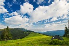 Paisagem da montanha Carpathian Fotos de Stock