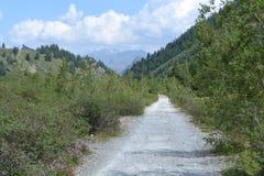 Paisagem da montanha com estrada Fotos de Stock