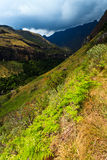 Paisagem da montanha com nuvens de trovão Imagens de Stock Royalty Free