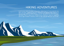 Paisagem da montanha com rio Fotografia de Stock