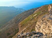 Paisagem da montanha da aurora Foto de Stock Royalty Free