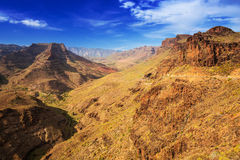 Paisagem da montanha da ilha de Gran Canaria Fotos de Stock