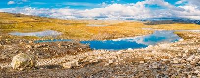 Paisagem da montanha da natureza de Noruega Vista panorâmico Fotos de Stock