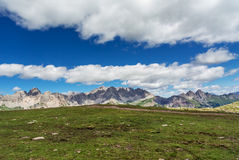 Paisagem da montanha das dolomites Imagens de Stock Royalty Free