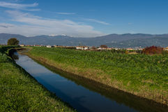 Paisagem da montanha de Abetone, Itália Imagem de Stock