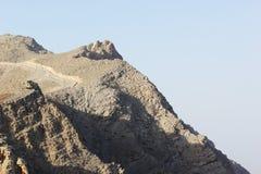 Paisagem da montanha de Jabal Jais perto de Ras al Khaimah, UAE Fotografia de Stock