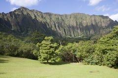 Paisagem da montanha de Ko'olau, Kaneohe, Havaí fotos de stock