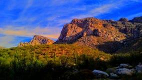 Paisagem da montanha do deserto Fotos de Stock Royalty Free