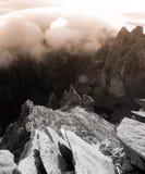Paisagem da montanha do granito - montagem Kinabalu fotos de stock