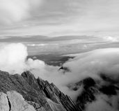 Paisagem da montanha do granito - montagem Kinabalu fotografia de stock