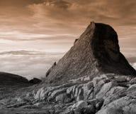 Paisagem da montanha do granito - montagem Kinabalu imagem de stock royalty free