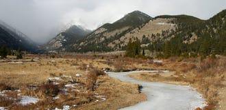 Paisagem da montanha do inverno Imagem de Stock Royalty Free