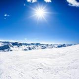 Paisagem da montanha do inverno Fotos de Stock