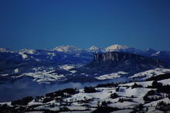 Paisagem da montanha do inverno Fotografia de Stock