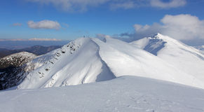 Paisagem da montanha do inverno - baixo Tatras Imagens de Stock