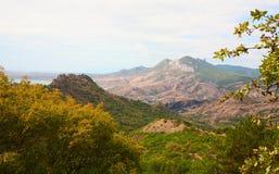 Paisagem da montanha do outono. Foto de Stock