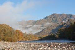 Paisagem da montanha do outono Foto de Stock Royalty Free