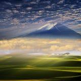 Paisagem da montanha do verão Trajeto da montanha Paisagem com mountai Imagens de Stock