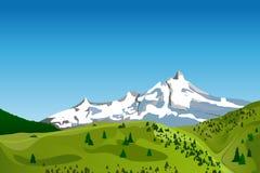 Paisagem da montanha do vetor Imagens de Stock