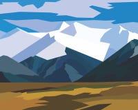 Paisagem da montanha do vetor Imagem de Stock Royalty Free