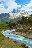 Paisagem da montanha dos cumes do verão (Áustria) fotografia de stock