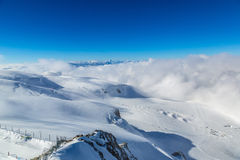 Paisagem da montanha dos cumes no suíço Fotos de Stock