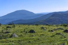 Paisagem da montanha dos Ural do norte fotografia de stock royalty free