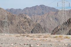 Paisagem da montanha, Egito, Sinai sul imagens de stock
