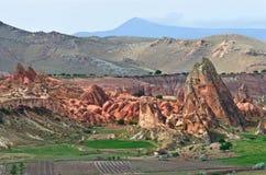 Paisagem da montanha em Cappadocia, Turquia foto de stock royalty free