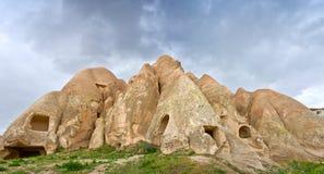 Paisagem da montanha em Cappadocia, Turquia fotos de stock