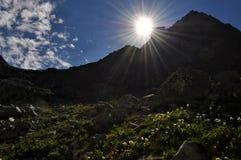 Paisagem da montanha em Eslováquia, Tatras alto Foto de Stock