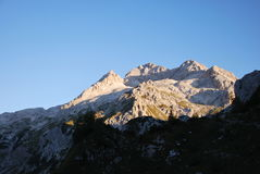 Paisagem da montanha em Eslovênia Fotos de Stock