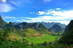 Paisagem da montanha em Vietnam Imagem de Stock