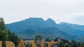 Paisagem da montanha em Zakopane Imagens de Stock Royalty Free