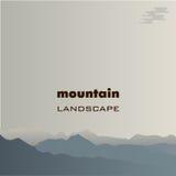 Paisagem da montanha, a imagem de diversas montanhas Imagem do vetor Fotos de Stock Royalty Free