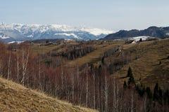 Paisagem da montanha na luz do por do sol Imagem de Stock Royalty Free